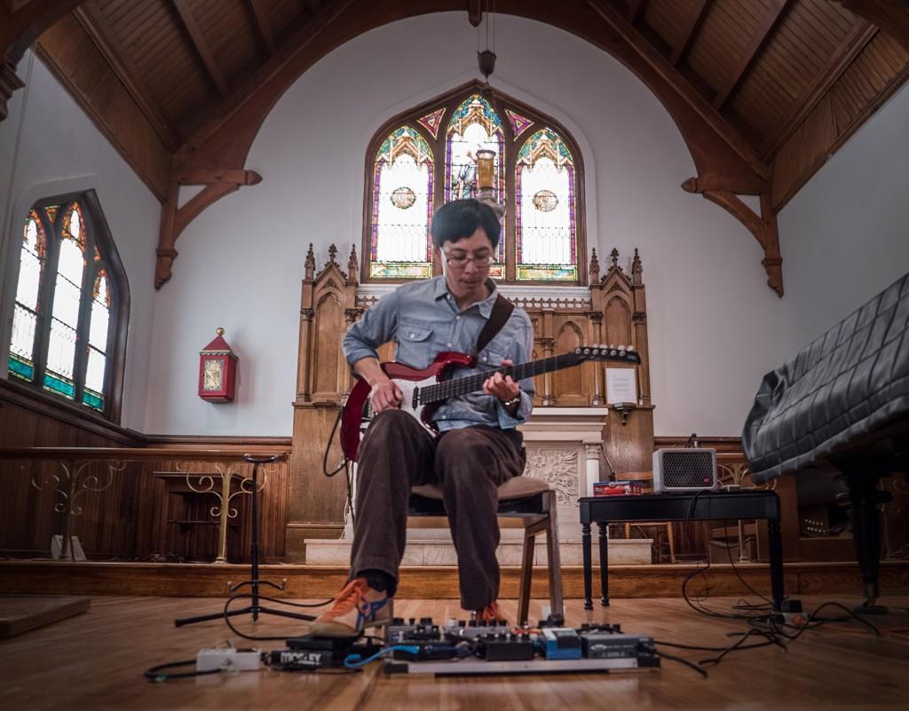 Performing at St. Andrews. Photo Tony Cenicola