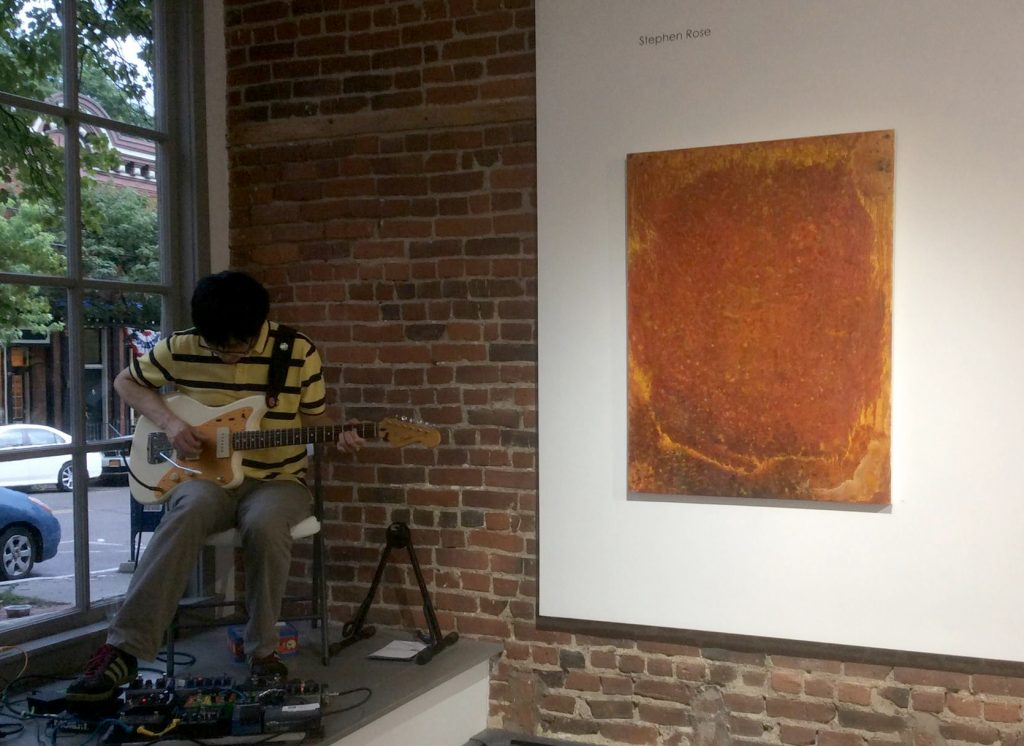 In performance at Gallery 66. (photo: J.K. Rose)